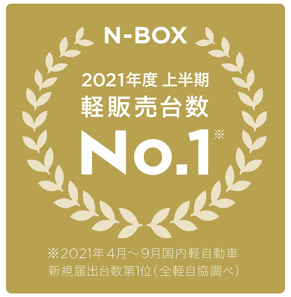 「N-BOX」が2021年度上半期 軽四輪車 新車販売台数 第1位を獲得